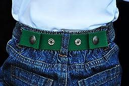 Dapper Snappers Original Toddler Solid Belts - Kelly Green
