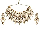 Tohfa Planet Brown And White Necklace Set For Women