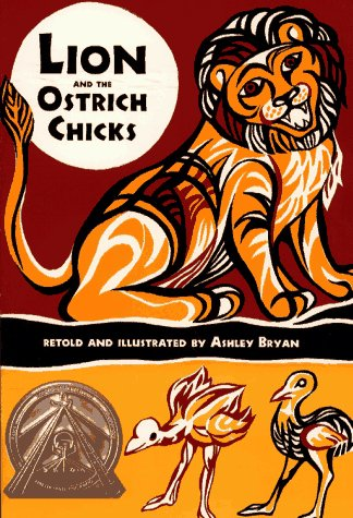 Lion and the Ostrich Chicks