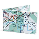 Crafted Lines Travel Oyster Card Wallet - London Tube Map Green