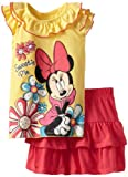 Disney Girls 2-6X 2 Piece Fairy Tale Dream Pullover and Divided Skirt with Short