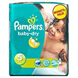 Pampers Baby Dry Size 5 Junior Monthly Pack - 144 Nappies