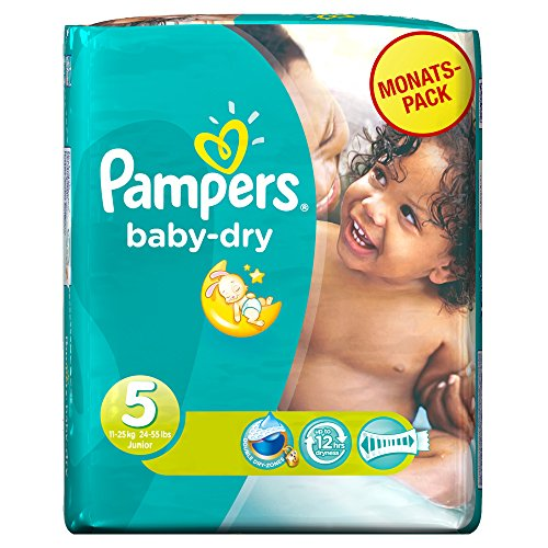 Baby Dry Sizejunior Monthly Pack - 144 Nappies 5 By Pampers