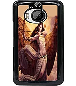 ColourCraft The Warrior Girl Design Back Case Cover for HTC ONE M9 PLUS