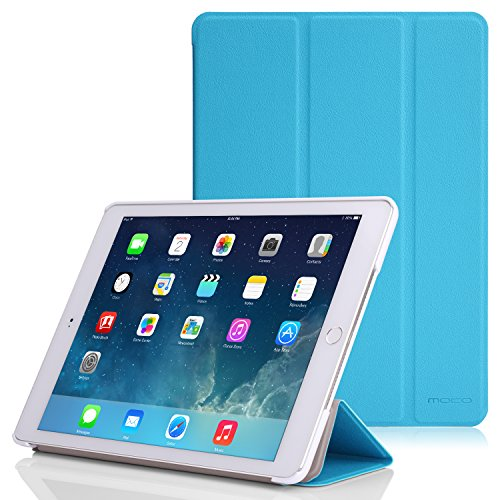 Apple iPad Air 2 Case - MoKo Ultra Slim Lightweight Smart-shell Stand Cover Case for Apple iPad Air 2 (iPad 6) 9.7 Inch iOS 8 Tablet, Light BLUE (with Smart Cover Auto Sleep / wake)
