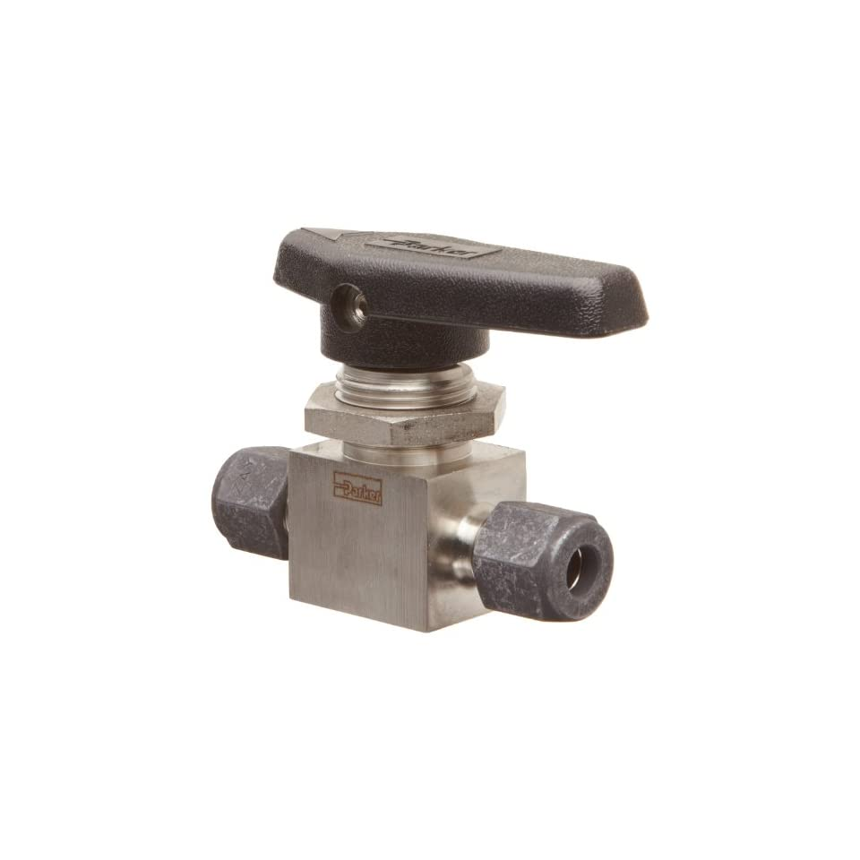 Parker MB Series Stainless Steel 316 Ball Valve, Inline, 1/2 CPI Compression Fitting
