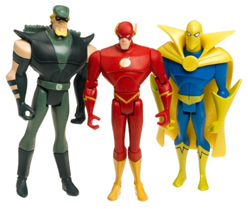 Buy Low Price Mattel Justice League Unlimited The Flash, Dr. Fate, Green Arrow H2104 Figure (B00030LQOQ)