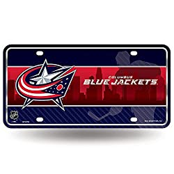 NHL Columbus Blue Jackets Metal Auto Tag
