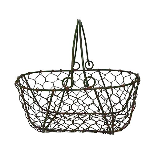 Gathering Basket in Green/Rust (French Wire Egg Basket compare prices)