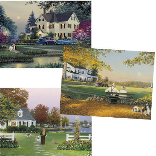 The Tender Cares of Autumn 1,000 Piece Jigsaw Puzzle by Artist William S. Phillips