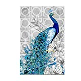 Adarl 5D DIY Diamond Painting Rhinestone Pictures of Crystals Embroidery Kits Arts, Crafts & Sewing Cross Stitch Peacock 1 (Color: peacock 1, Tamaño: 12.8