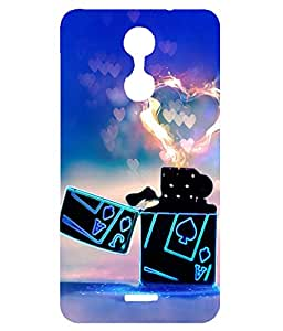 Letz Dezine Lighter With Heart Flame Design Printed Mobile Back Case Cover for Reliance Lyf Water 7