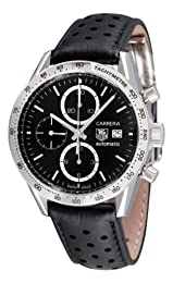 TAG Heuer Men s CV2016 FC6233 Carrera Chronograph Black Dial Watch