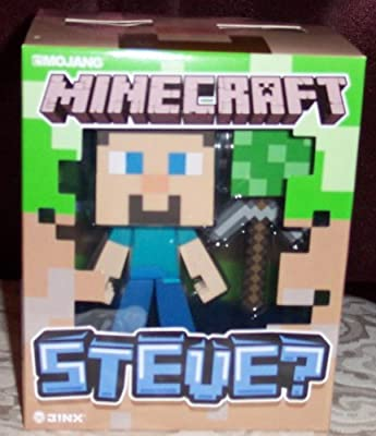 Jinx Minecraft Steve With Axe Block Vinyl Figure Licensed In Package