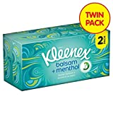 Kleenex Balsam Fresh Regular White Tissues Twin Pack 2 x 72 per pack