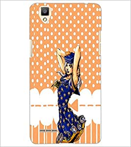 PrintDhaba Cute Girl D-4376 Back Case Cover for OPPO F1 (Multi-Coloured)
