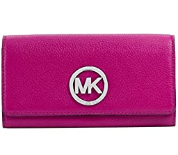 Michael Kors Fulton Carryall Leather Wallet Raspberry