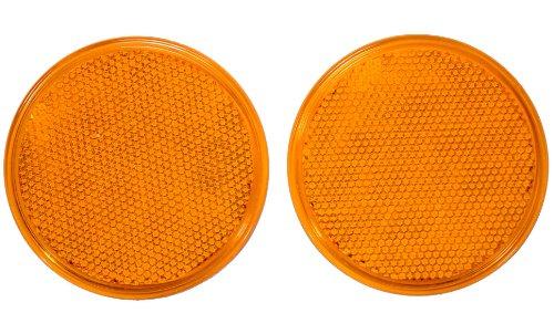 Iit 17636 3-Inch Round Amber Reflectors, 2-Piece