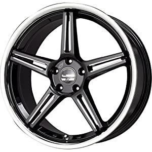 Falken LX-52 Black CNC Machined Wheel with Stainless Chrome Lip (20×10.5″/5x120mm)