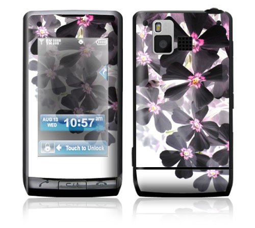 Asian Flower Paint Decorative Skin Cover Decal Sticker for LG Dare VX9700 Cell Phone