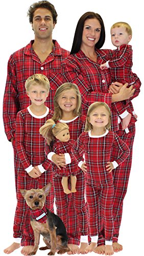 SleepytimePjs Infant & Kids Red Plaid Pajama