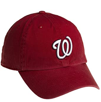 MLB Washington Nationals Franchise Fitted Baseball Cap, Red, Medium