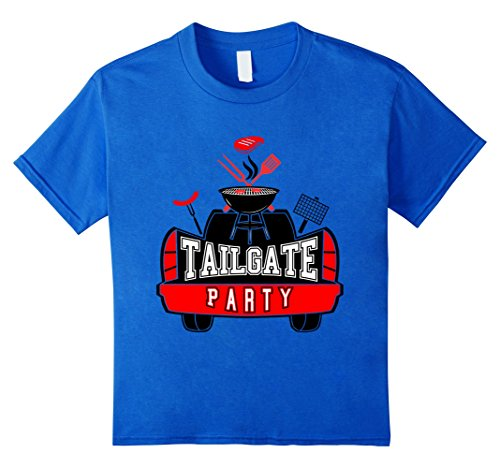 Kids Tailgate Party T Shirt. Football T Shirt. BBQ Shirt 4 Royal Blue (Gates Bbq Shirt compare prices)