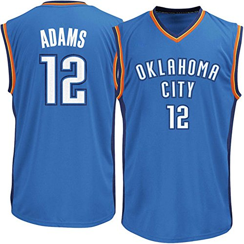 Generic Oklahoma City Thunder Basketball Player Steven Adams #12 Mens Jersey (Light Blue, XL) (Light Blue Basketball Jersey compare prices)