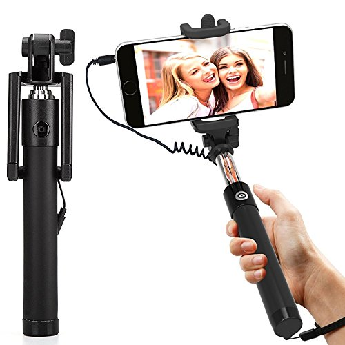 MobileGabbar Aux Selfie Stick Compatible For Xolo A550S Ips  available at amazon for Rs.249