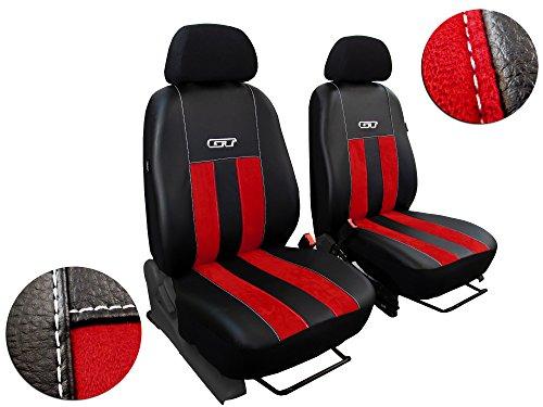 Vordersitzbezge-Autositzbezge-passend-fr-NISSAN-DESIGN-ALCANTARA-GT-mit-EcoLeder-Super-Qualitt-Set-11-In-diesem-Angebot-ROT