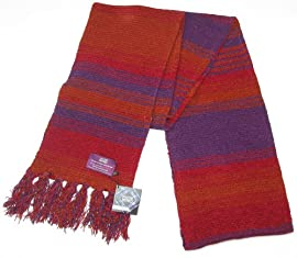 Doctor Who Scarf - Buy Official BBC Season 18 Tom Baker Burgundy Scarf - 4th Dr Replica Scarf
