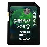 Kingston 8GB SDHC Class 10 Memory Card For Nikon Coolpix P600 Camera
