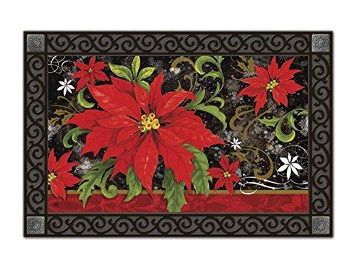 Classic Poinsettia MatMates Doormat