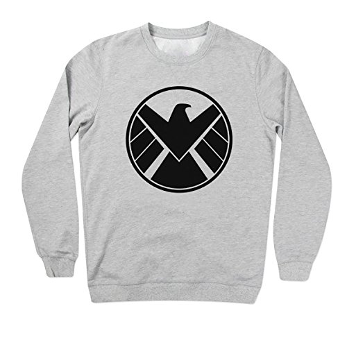 Agents Of S H I E L D Shield Cool Logo Grigio Felpe Unisex Medium