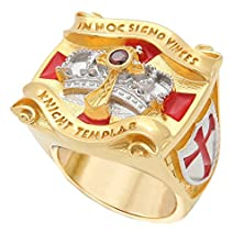 buy Knight Templar Masonic Ring 18K White And Yellow Gold Pld Cross & Crown 45 Gr Unique Handcrafted Design (12)