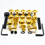PRO BOLT FAIRING BOLT KIT FITS HONDA VTR1000 FIRESTORM 97-01 GOLD