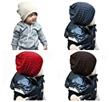 Qandsweet Baby Boy's Hat Cool Knit Beanie Warm Winter Cap (4 Pack Boy)