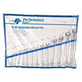 Performance Tool W1114M Metric Combination Wrench Set, 14-Piece