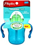 Playtex Lil' Gripper/TrainingTime Straw Trainer Cup, 6 Ounce , Colors May Vary