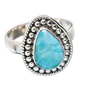 Amazon.com: Ana Silver Co Rare Larimar 925 Sterling Silver Ring Size 7