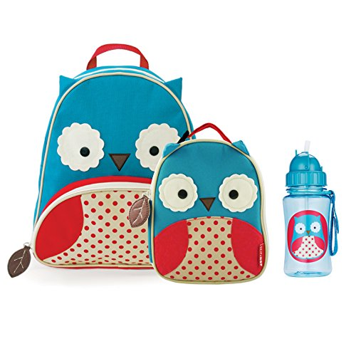 Skip Hop Zoo Backpack, Lunchie, and Bottle Set - Owl - 1