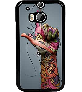 ColourCraft Hand Image Design Back Case Cover for HTC ONE M8