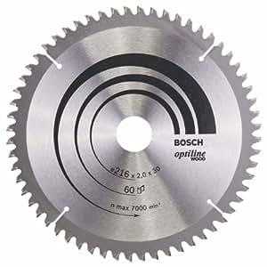 Bosch Zubehör 2608640433 Kreissägeblatt Optiline Wood 216 x 30 x 2,0 mm, 60