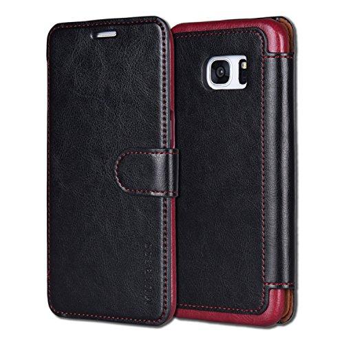 Custodia Per Galaxy S7 Edge - Mulbess Custodia In Pelle Con Wallet Case Cover Per Samsung Galaxy S7 Edge - Nero