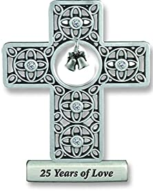 buy Cathedral Art Sqp309 25 Years Of Love Anniversary Cross, 3-Inch High