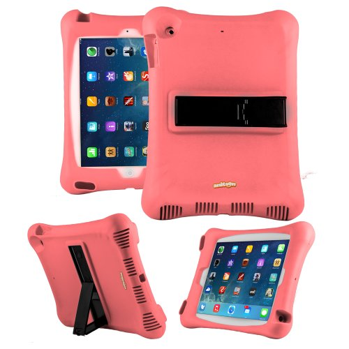 Anitoon Amplifier Speaker Case Cover For Ipad Air 5Th Gen Pink With Armor Body And Stand