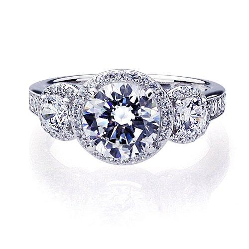 2 carat center stone engagement ring. Black Bedroom Furniture Sets. Home Design Ideas