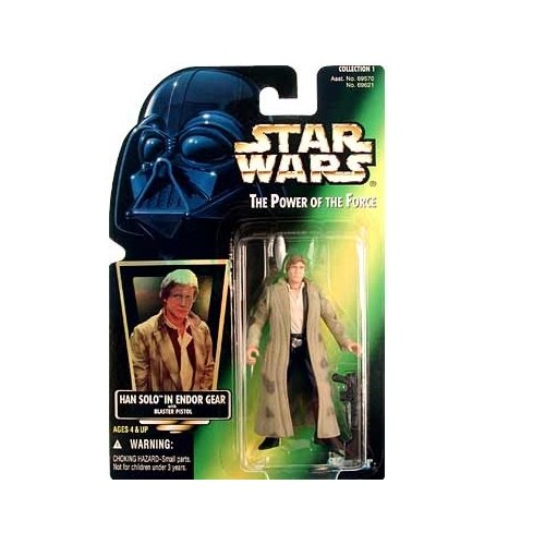 Star Wars: Power of the Force Green Card Han Solo in Endor Gear Action Figure - 1