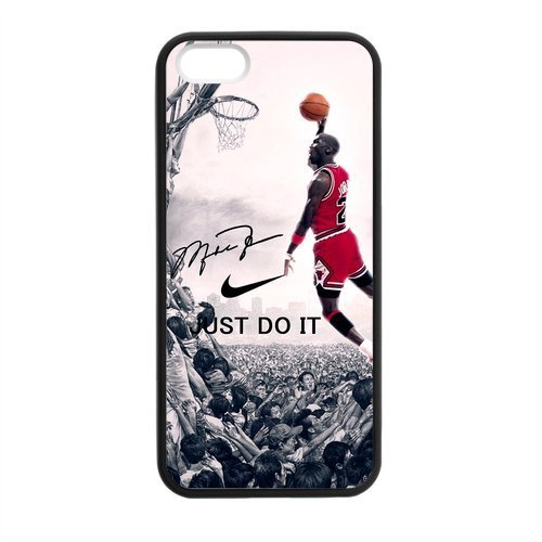 Hipster NBA Chicago Bulls Michael Jordan Apple Iphone 5S/5 Case Cover TPU Laser Technology NIKE JUST DO IT Dunk at Amazon.com