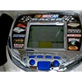 1998 Radica Usa Ltd. Radica Monte Carlo Nascar Racer Lcd Virtual Hand Held Racing Game Model#9847 Gb W/Right Or Left Handed Steering Control Game Vibrates On Bumps And Rubs And Trigger Key Accelerator (Chrome/Silver Body With Black And Blue Button Version